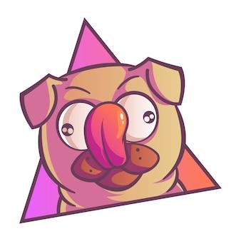 Illustratie van pug dog.