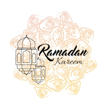 Illustratie van ramadan kareem wenskaart met lantaarn