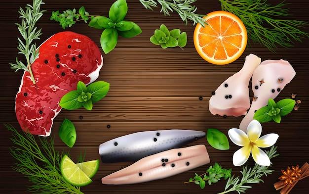 Illustratie van realistische kruiden en specerijen