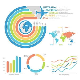 Illustratie van reis infographic grafiek voor presentatie.