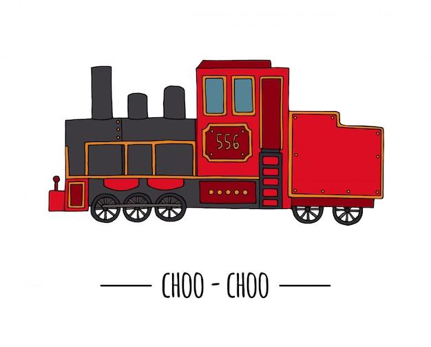 Illustratie van retro locomotief trein