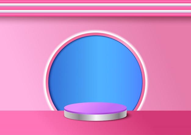 Illustratie van roze achtergrond op 3d-stijl