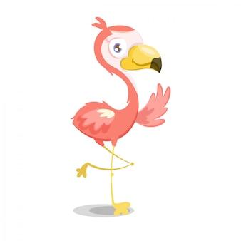 Illustratie van roze flamingo