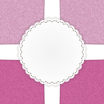 Illustratie van roze jeans-sjabloonkaart