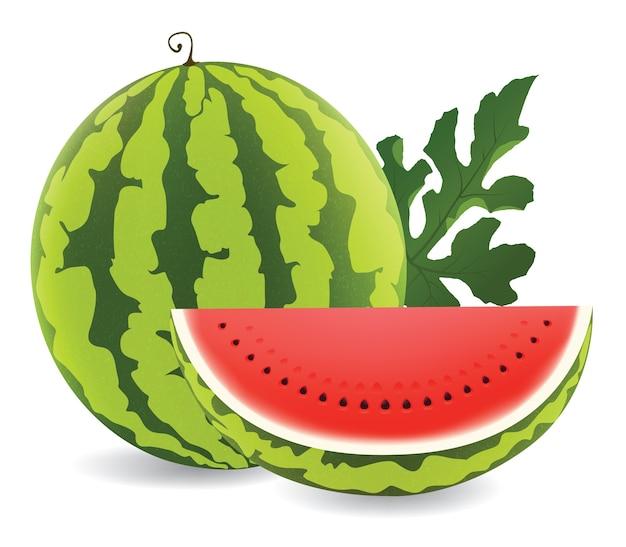 Illustratie van sappige watermeloen