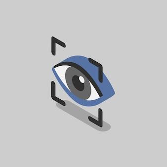 Illustratie van scannen van oogherkenning
