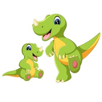 Illustratie van schattige dinosaurus cartoon
