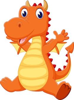 Illustratie van schattige draak cartoon