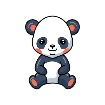 Illustratie van schattige kleine panda meisje cartoon met bloemen