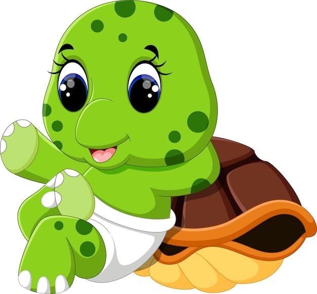 Illustratie van schattige schildpad cartoon