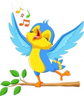 Illustratie van schattige vogels zingen