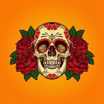 Illustratie van schedel