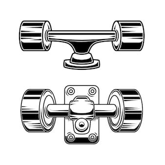 Illustratie van skateboardwielen.