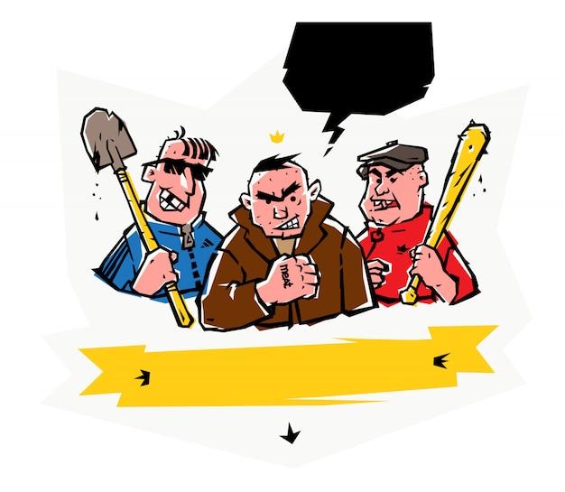 Illustratie van slechteriken. vector.