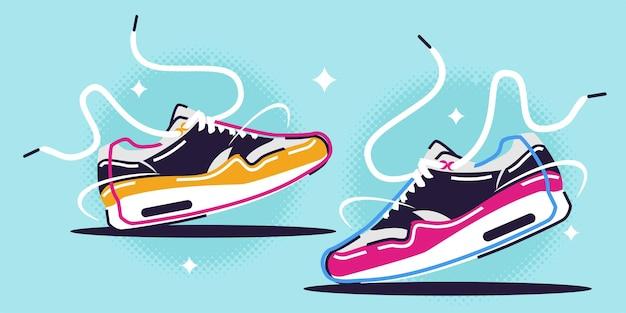 Illustratie van sneakers