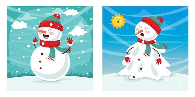 Illustratie van sneeuwman