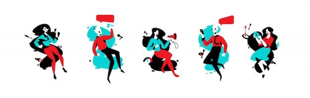 Illustratie van specialisten in reclame