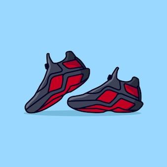 Illustratie van sportschoenen