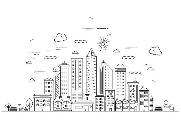Illustratie van stadslijnontwerp