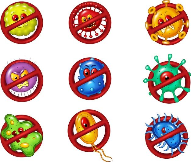 Illustratie van stopvirus