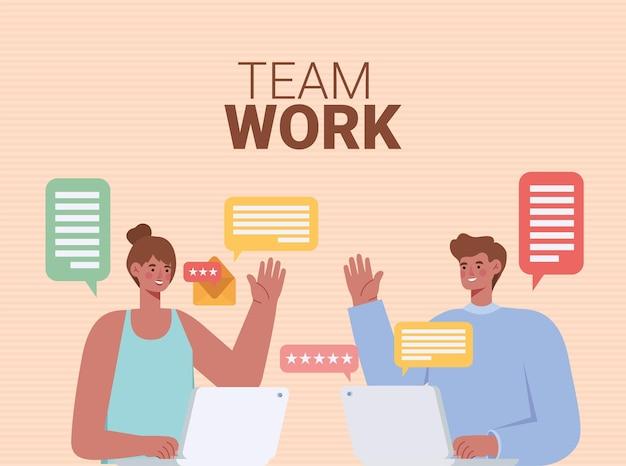 Illustratie van teamwerk