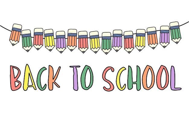 Illustratie van terug naar schoolconcept