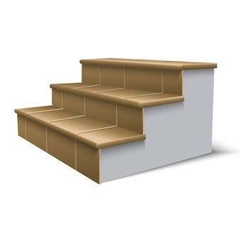 Illustratie van trappen. op wit wordt geïsoleerd.
