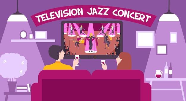 Illustratie van tv-concertshow