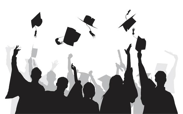 Illustratie van universitair afgestudeerden