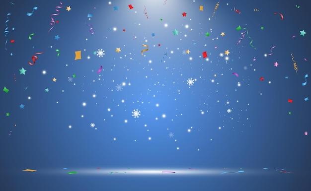 Illustratie van vallende confetti
