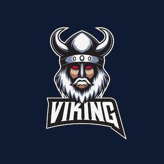 Illustratie van viking met logo esport mascotte