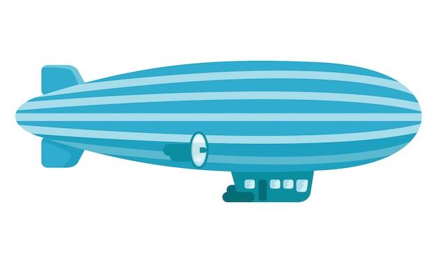 Illustratie van vintage zeppelin met cabine