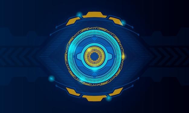 Illustratie van virtuele cirkel abstracte achtergrond radiale technologie futuristische digitaal