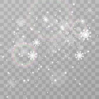Illustratie van vliegende sneeuw natuurverschijnsel van sneeuwval of sneeuwstorm
