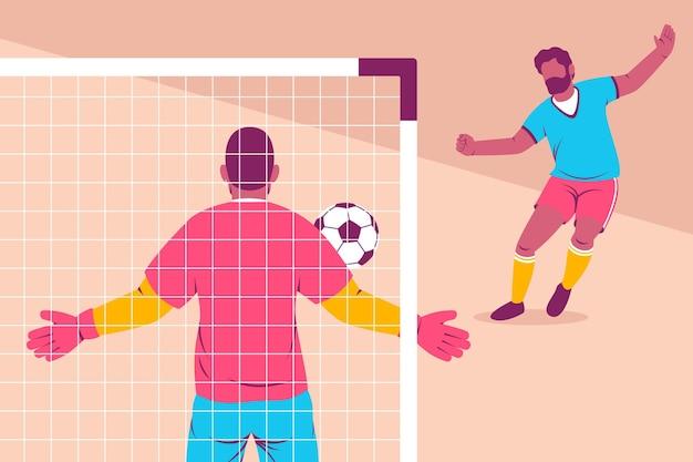 Illustratie van voetballers