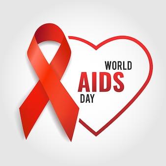 Illustratie van wereld aidsdag.