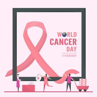 Illustratie van werelddag voor kanker