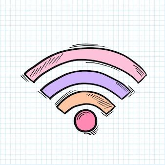 Illustratie van wifi-signaal op achtergrond wordt geïsoleerd die