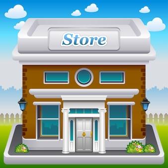 Illustratie van winkelpictogram