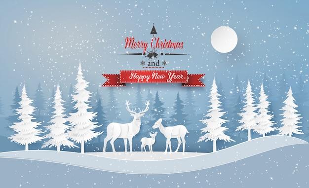 Illustratie van wintertijd en kerstdag