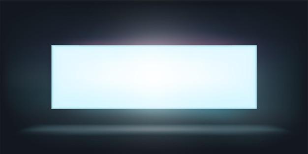 Illustratie van witte gloed lightbox