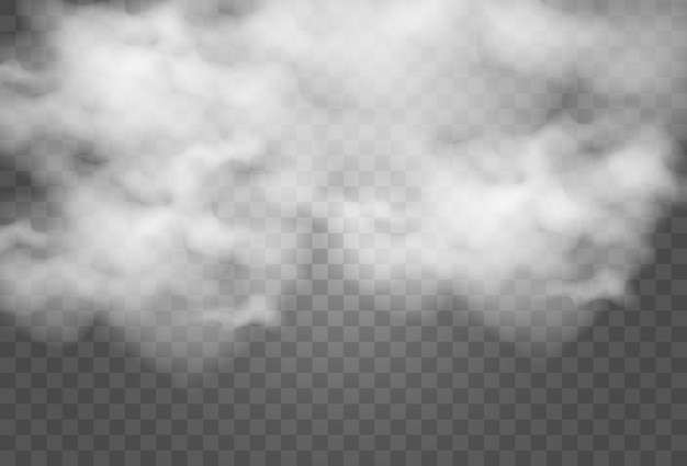 Illustratie van wolken op transparant