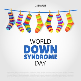 Illustratie van world down syndrome day