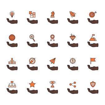 Illustratie van zakelijke prestatie pictogramserie