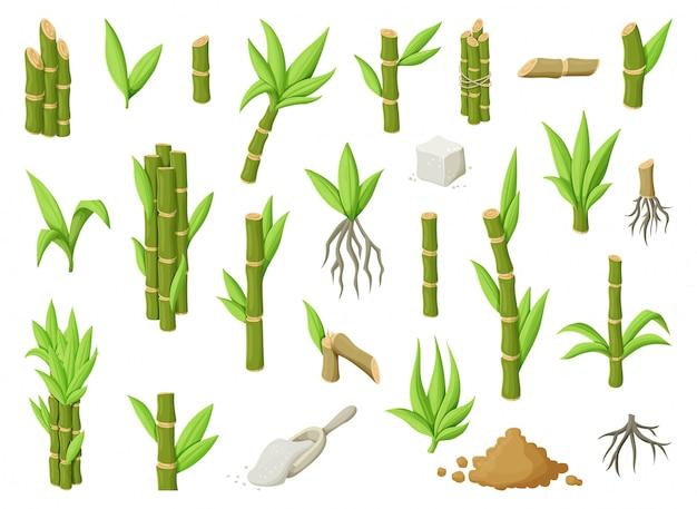 Illustratie van zoete witte suiker.