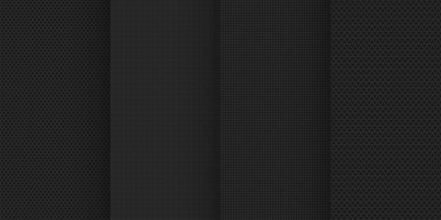 Illustratie van zwart kleuren kalm minimaal stijl naadloos patroon