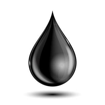 Illustratie van zwarte druppel