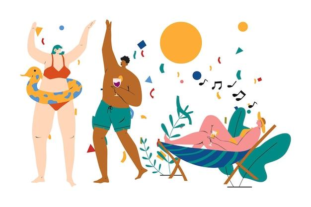 Illustratie van zwembadfeest