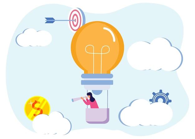Illustratie vector grafische stripfiguur van het opstarten van een bedrijf