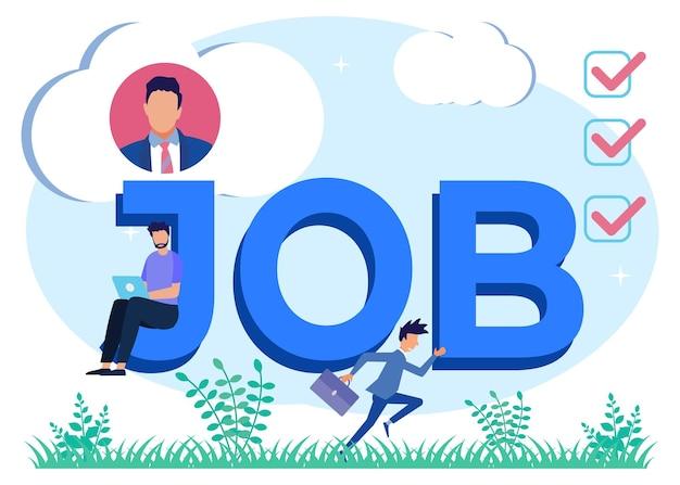 Illustratie vector grafische stripfiguur van job
